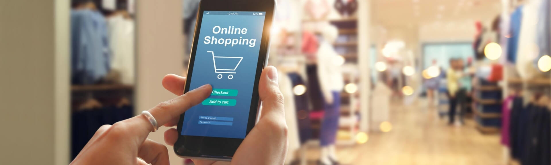 eCommerce store on mobile device